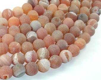 Druzy Agate Beads, Geode Beads, 10mm(10.5mm) Round Beads, 15.5 Inch, Full strand, Approx 38 beads, Hole 1mm (122054250)