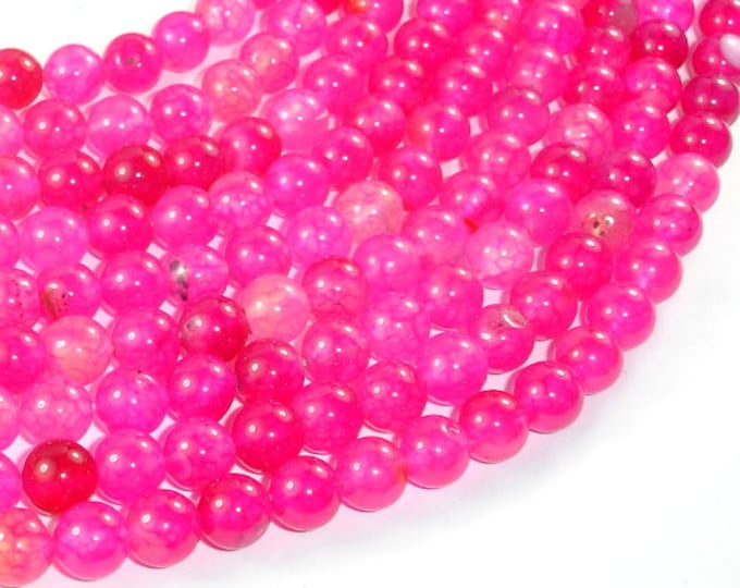 Dragon Vein Agate Beads-Pink, 8mm Round Beads, 15 Inch, Full strand, Approx 48 beads, Hole 1mm (122054243)