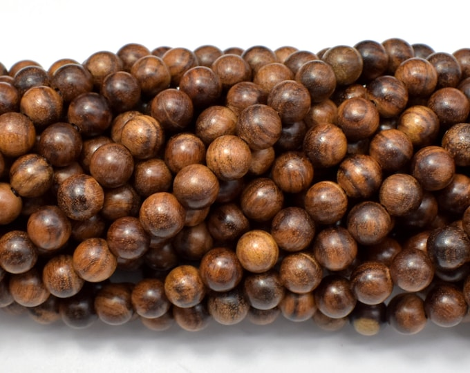 Black Rosewood Beads, 6mm Round Beads, 26 Inch, Full strand, Approx 108 Beads (011749001)