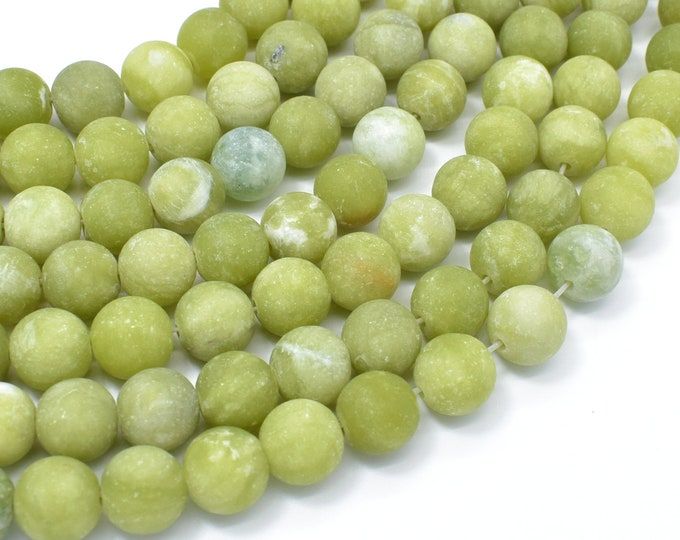 Matte Jade Beads, 10mm (10.5mm) Round Beads, 15 Inch, Full strand, Approx 37 beads, Hole 1mm, A quality (287054045)
