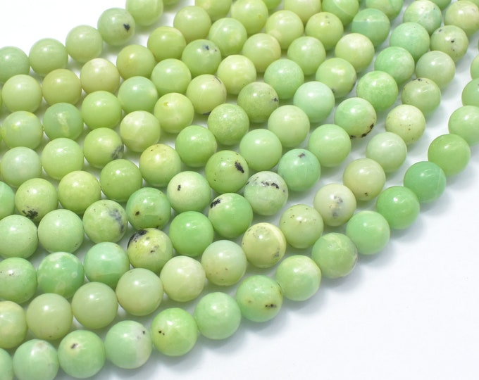 Chrysoprase Beads, 7.8mm Round Beads, 15.5 Inch, Full strand, Approx 50-52 beads, Hole 1mm(190054009)