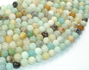 Amazonite Beads, 6mm (6.6mm) Round Beads, 15.5 Inch, Full strand, Approx 60 beads, Full strand, Hole 1 mm (111054015)