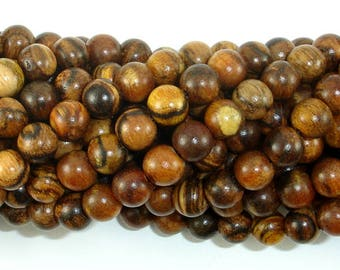 Vietnam Qinan Sandalwood Beads, 8mm(8.3mm) Round Beads, 32 Inch, Full strand, Approx 108 Beads, Mala Beads (011738002)