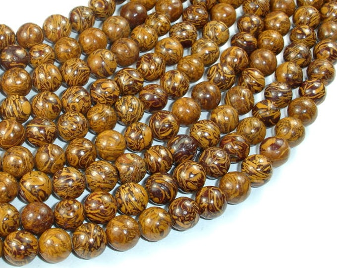 Elephant Jasper Beads, 8mm Round Beads, 15.5 Inch, Full strand, Approx 48 beads, Hole 1 mm, A+ quality (215054004)