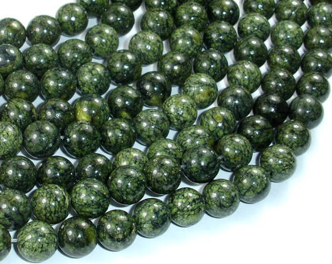 Russian Serpentine Beads, 8mm(8.5mm) Round Beads, 15 Inch, Full strand, Approx 46 beads, Hole 1mm (395054002)