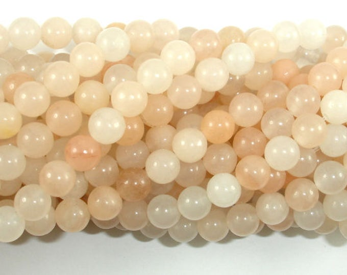 Pink Aventurine Beads, 6mm (6.5 mm) Round Beads, 15.5 Inch, Full strand, Approx 62 beads, Hole 1mm (353054001)