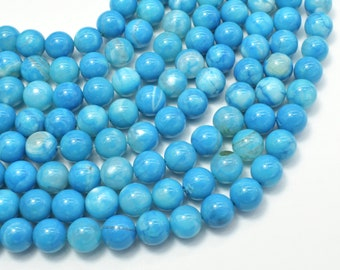 Blue Fire Agate, 8mm (8.3mm) Round Beads, 15.5 Inch, Full strand, Approx 48 beads, Hole 1mm (122054294)