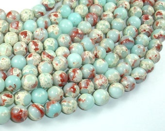 Impression Jasper, 8mm(8.3mm) Round Beads, 15 Inch, Full strand, Approx 47 beads, Hole 1mm (281054034)