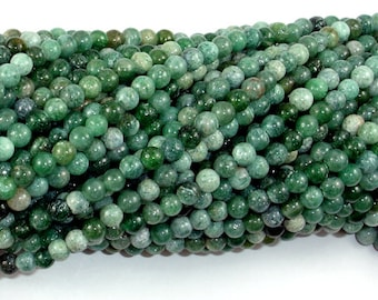 Indian Jade, Round Beads, 4mm (4.5 mm), 15.5 Inch, Full strand, Approx 98 beads, Hole 0.5 mm (287054027)