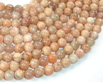 Sunstone Beads, 8mm Round Beads , 15.5 Inch, Full strand, Approx 48 beads, Hole 1 mm (418054011)