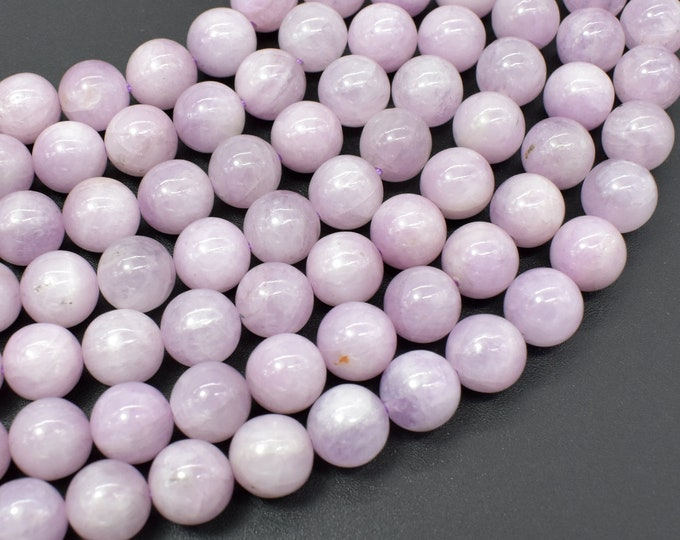 Kunzite, 8mm (8.5mm) Round Beads, 15 Inch, Full strand, Approx 45 beads, Hole 0.8mm (293054009)