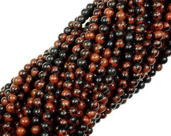 Mahogany Obsidian Beads, Round, 4mm, 16 Inch, Full strand, Approx 98 beads, Hole 0.5 mm, A quality (311054006)