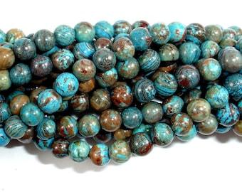 Blue Calsilica Jasper Beads, 4mm (4.3 mm), 15.5 Inch, Full strand, Approx 96 beads, Hole 0.8 mm (496054005)