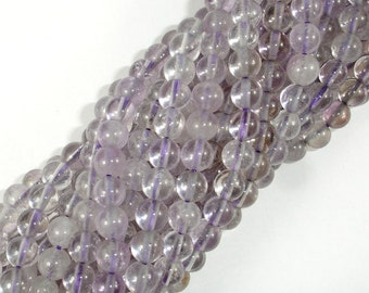 Light Amethyst, Ametrine, 6mm (6.3mm) Round Beads, 15.5 Inch, Full strand, Approx 64 beads, Hole 1 mm (115054047)