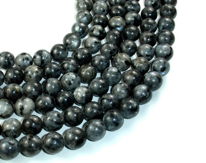 Black Labradorite Beads, Round, 10mm, 15.5 Inch, Full strand, Approx 39 beads, Hole 1 mm (137054004)