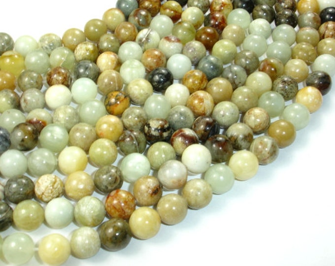 Jade Beads, Round, 10mm, 15.5 Inch, Full strand, Approx 40 beads, Hole 1 mm, A quality (287054032)