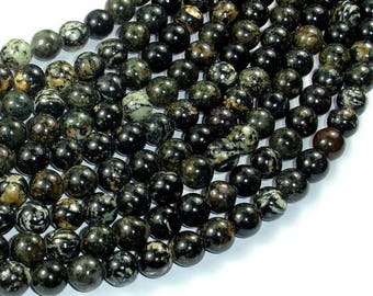 Firework Jasper, 8mm (8.2mm) Round Beads, 15.5 Inch, Full strand, Approx 49 beads, Hole 1mm, A quality (260054006)