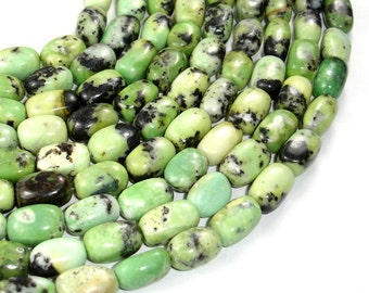 Chrysoprase Beads, Nugget, 11 x 15 mm, 15 Inch, Full strand, Approx 25 beads, Hole 1 mm (190047001)