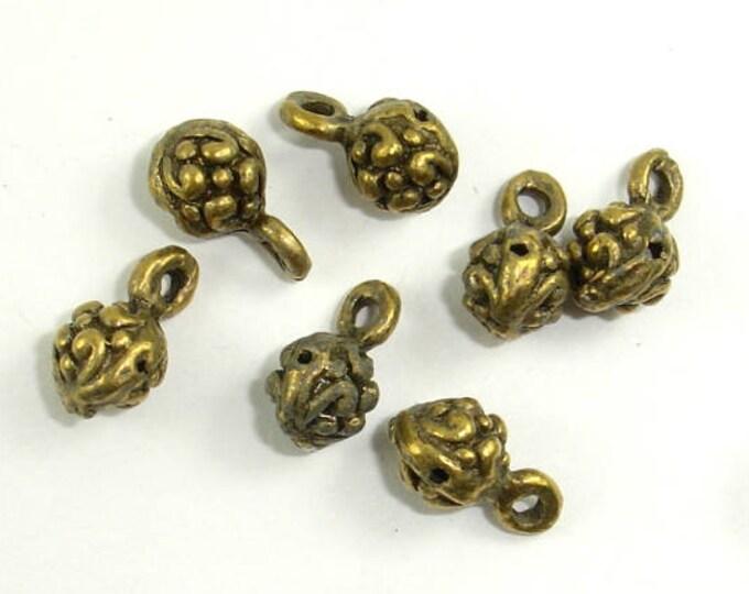 Metal Charms, Zinc Alloy, Antique Brass, 6x11 mm, 20 pcs, Hole 1.4 (006873080)