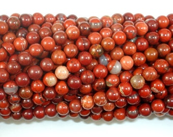 Red Jasper Beads, 4mm (4.7mm), 15 Inch, Full strand, Approx 85 beads, Hole 0.8mm (371054013)