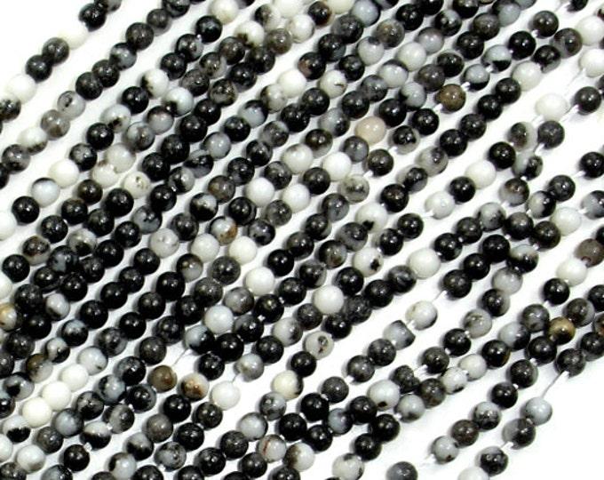 Zebra Jasper Beads, Round, 2 mm, 16 Inch, Full strand, Approx 200 beads, Hole 0.4 mm (445054004)