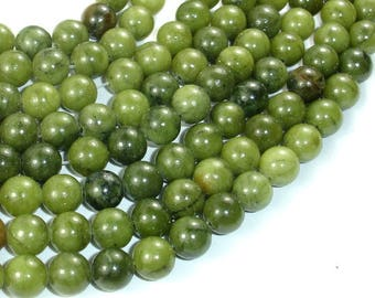 Jade Beads, 8mm(8.3mm) Round Beads, 15 Inch, Full strand, Approx 47 beads, Hole 1 mm, A quality (287054035)