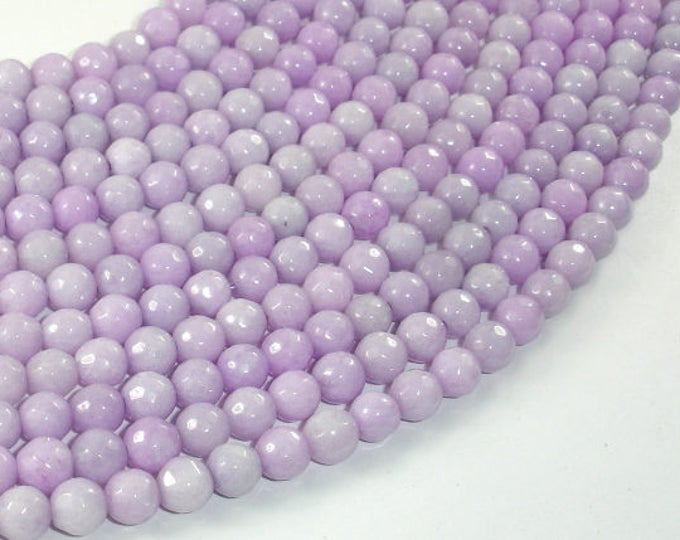 Jade Beads, Lavender, 6mm Faceted Round, 15.5 Inch, Full strand, Approx 64 beads, Hole 1mm, A quality (211025020)