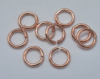 150pcs 8mm Open Jump Ring 1.15mm (17gauge), Rose Gold Plated (006862008)