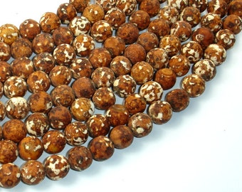 Tibetan Dzi Agate Beads, 10mm Round Beads, 14.5 Inch, Full strand, Approx 37 beads, Hole 1 mm (122054122)
