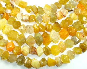 Agate Beads, Faceted Nugget, 12 x 16mm, 15.5 Inch, Full strand, Approx 31-35 beads, Hole 1 mm (122020008)