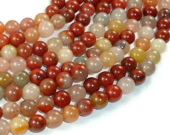 Jade Beads, 8mm(8.5mm) Round Beads, 15 Inch, Full strand, Approx 46 beads, Hole 1mm, A quality (287054038)