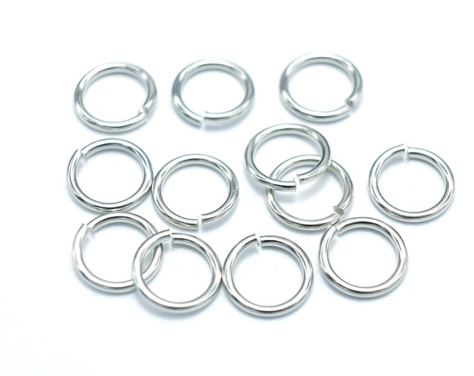 200pcs 8mm Open Jump Ring, 1mm (18gauge), Silver Plated (006862003)