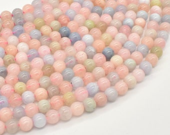 Beryl Beads, Aquamarine, Morganite, Heliodor, Round, 6mm(5.8mm), 16 Inch, Full strand, Approx 68-71 beads, Hole 0.8mm (133054002)