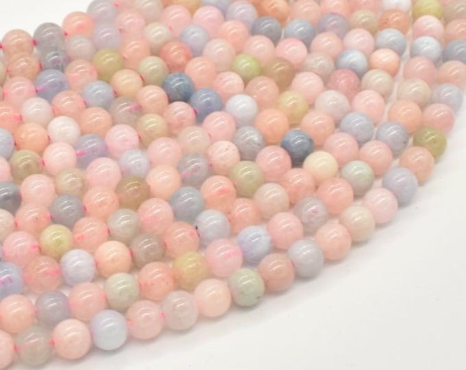 Beryl Beads, Aquamarine, Morganite, Heliodor, Round, 6mm(5.8mm), 16 Inch, Full strand, Approx 68-71 beads, Hole 0.8mm (133054002)