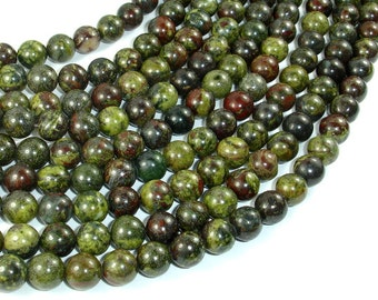 Dragon Blood Jasper, 8mm(8.5mm) Round Beads, 15.5 Inch, Full strand, Approx 47 beads, Hole 1mm, A quality (495054003)
