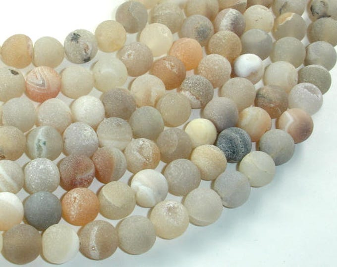Druzy Agate Beads, Geode Beads, 10mm(10.5mm) Round Beads, 15.5 Inch, Full strand, Approx 38 beads, Hole 1mm (122054246)