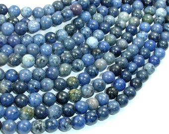 Dumortierite, 6mm (6.3mm) Round Beads, 15.5 Inch, Full strand, Approx 64 beads, Hole 1mm, A- quality (203054005)