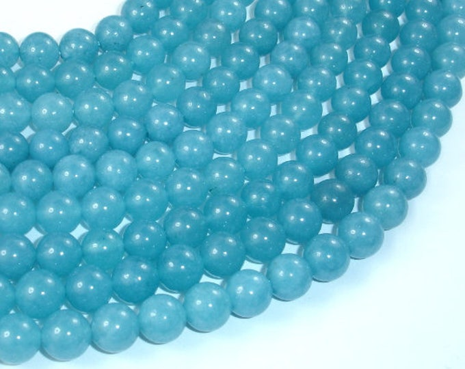Blue Sponge Quartz Beads, 8mm(8.4mm) Round Beads, 15.5 Inch, Full strand, Approx. 48 beads, Hole 1mm, A quality (159054003)