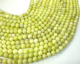 Lemon Jade, Round, 8mm beads, 15.5 Inch, Full strand, Approx 50 beads, Hole 1 mm (303054004)