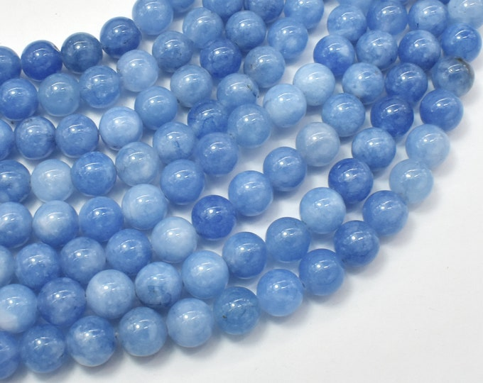 Jade Beads-Blue Gray, 8mm Round Beads, 15 Inch, Full strand, Approx 48 beads, Hole 1mm (211054172)