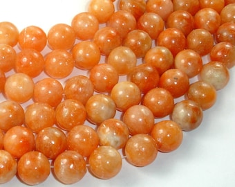 Orange Calcite Beads, 12mm, 16 Inch, Full strand, Approx 34 beads, Hole 1mm (335054005)