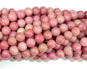 Rhodonite Beads, Round, 6mm (6.7mm), 15.5 Inch, Full strand, Approx 59 beads, Hole 1mm, A quality (386054008)