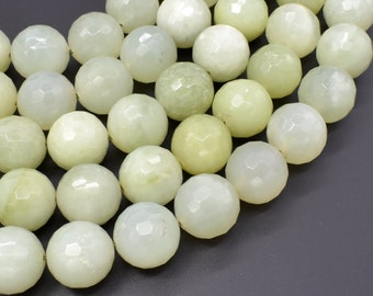 New Jade Beads, 18mm (17mm) Faceted Round Beads, 15 Inch, Full strand, Approx 22 beads, Hole 1.2mm (329025002)