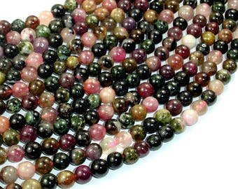 Tourmaline Beads, 6mm Round Beads, 15.5 Inch, Full strand, Approx 67 beads, Hole 1 mm, AB+ quality (427054010)