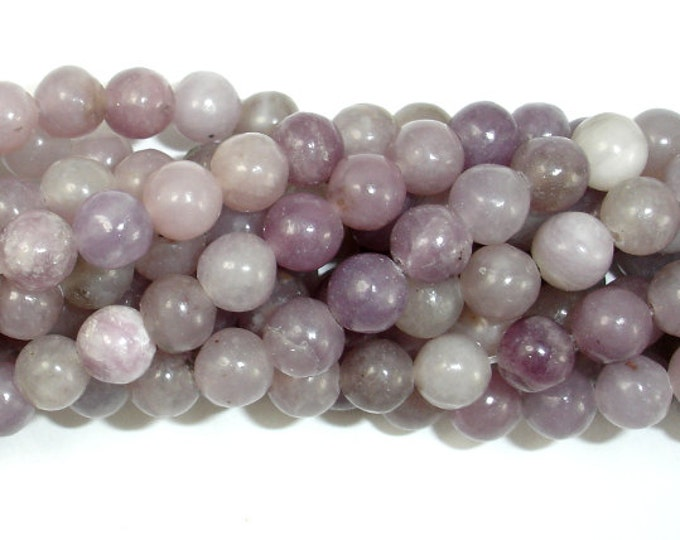 Lilac Jasper Beads, Pink Tourmaline Beads, 6 mm (6.5 mm) Round Beads, 15.5 Inch, Full strand, Approx 63 beads, Hole 1mm (307054002)