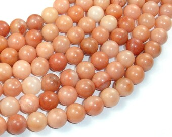 Pink Aventurine Beads, 10mm Round Beads, 15.5 Inch, Full strand, Approx 40 beads, Hole 1 mm, A quality (353054004)