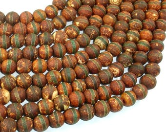 Crackle Tibetan Agate, 8mm(8.2mm) Round Beads, 14.5 Inch, Full strand, Approx 48 beads, Hole 1.2mm (122054266)