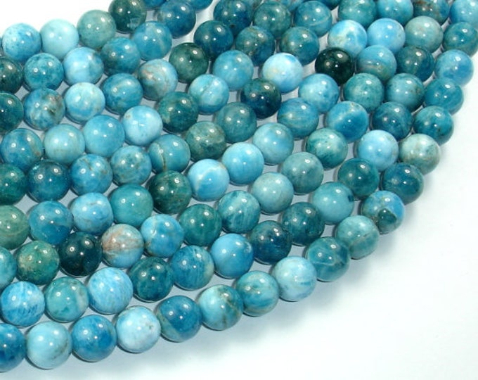 Apatite Beads, 8mm Round Beads, 15.5 Inch, Full strand, Approx 49 beads, Hole 1mm (120054013)