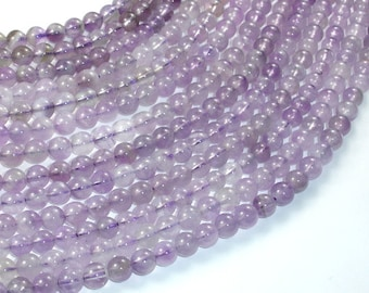 Amethyst Gemstone Beads, Round, 6 mm(6.5mm), 15.5 Inch, Full strand, Approx 62-65 beads, Hole 1 mm  (115054013)