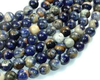 Orange Sodalite Beads, 10mm (10.5mm) Round Beads, 15.5 Inch, Full strand, Approx 39 beads, Hole 1mm, A quality (411054021)